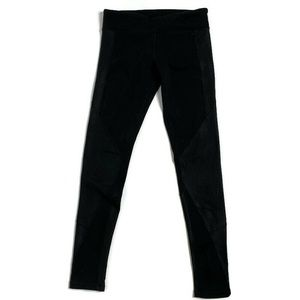Alo Yoga Black Full Length Zipper Calf Leggings